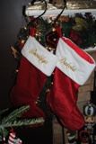 Holiday Stockings- Plush Red-Monogrammed Holiday Stockings Red Velvet